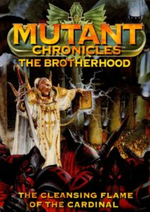 Miniature of Mutant Chronicles from the first edition of the RPG - 1993 - The Brotherhood. The cleansing flame of the Cardinal
