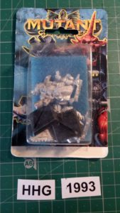 Miniature of Mutant Chronicles from the first edition of the RPG - Blue Illustrated Background 1+2